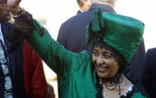 FILE: Winnie Madikizela-Mandela arrives at the Union Buildings in Pretoria 27 April 2004 for the inauguration of President Thabo Mbeki. Picture: AFP