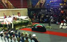 The funeral service of former Minister of Cooperative Governance and Traditional Affairs Sicelo Shiceka, on 12 May 2012. Picture: Phakamile Hlubi/EWN