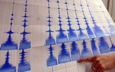 FILE: A seismograph takes readings of an earthquake. Picture: AFP