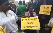 FILE: Demonstrators at the ANC march say they want more clinics, more health staff, reopen Jooste hospital and better services. Picture: Natalie Malgas/EWN.