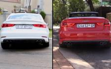 The S3 sedan meets the S3 convertible, both cars face each other and leave viewer to determine which is better. Picture; Kgothatso Mogale/EWN