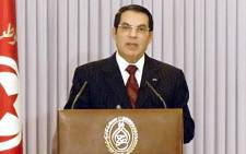 FILE PICTURE: Ousted Tunisian dictator Zine al-Abidine Ben Ali. Picture: AFP.