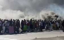 Kraaifontein protesters seen on 1 August 2020 during a protest. Picture: Supplied.