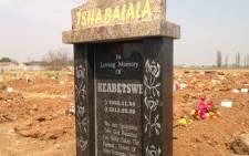 "Keabetswe funeral at Thomas Titus nkobi cemetery in Germiston. Picture: Sebabatso Mosamo/EWN"""