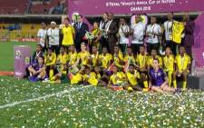 Banyana Banyana after the Awcon 2018 final against Nigeria. Picture: @CAF_Online/Twitter.