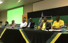 The African National Congress's (ANC) top six at the NEC meeting in Irene, Tshwane on 18 January 2017. Picture: @MYANC/Twitter.