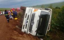 A farm truck overturned and injured 43 people in Wartburg. Picture: Twitter @ER24EMS.