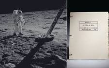 New York auctioneers Christie's will auction the Apollo 11 Lunar Module Timeline Book, the most important manual used to accomplish the goal of landing a man on the Moon and returning him safely to Earth. Picture: www.christies.com.