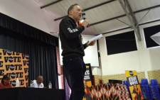Good's Cape Town mayor candidate, Brett Herron, on the campaign trail in Mitchells Plain. Picture: @ForGoodZA/Twitter