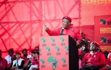 Economic Freedom Fighters leader Julius Malema addressing the supporters during the party's manifesto launch at Orlando Stadium on 30 April 2016. Picture: @EFFSouthAfrica.