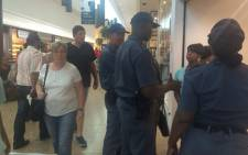SAPS patrolling at Cape Gate Mall. Picture: Masa Kekana/EWN.