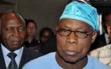 File photo: Olusegun Obasanjo in Dakar. Picture: AFP.