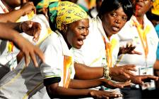 ANC members sing during the opening of the party's 53rd national conference in Mangaung on 16 December 2012. Picture: ANC