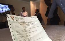 A fraudulent birth certificate issued by a corrupt Home Affairs official. Picture: Vumani Mkhize/EWN.