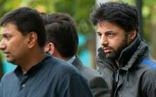 Shrien Dewani (R) arrives at Belmarsh Magistrates' Court sitting at Woolwich Crown Court in south London, on August 10, 2011. Picture: AFP