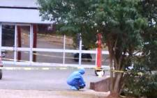 The scene of the shooting at the Mthatha High Court on 10 September, 2014. Picture: Twitter via @Gudeka.
