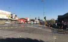 Some shop owners have decided to close their businesses, fearing attacks amid violent protests in Alexandra on Sunday, 11 July 2021. Picture: Edwin Ntshidi/Eyewitness News
