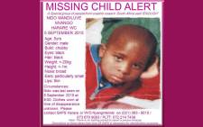 Five-year-old Nido Mvango was last seen on Saturday in Harare, Khayelitsha. Picture: Pink Ladies/Facebook.