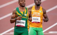 Akani Simbine has qualified for the 100m final at the Tokyo Olympics after finishing fourth in his semi-final heat on Sunday, 01 August 2021. Picture: Twitter/@TeamSA2020
