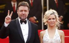 Academy Award-winning actor Russell Crowe and his wife, Danielle Spencer. Picture: AFP.