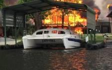 Fire destroys properties in vaal.Picture: Llywelyn Botha