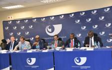 File picture: Competition Commission officials, presented findings on the Market Services Data Inquiry, December 2019. Picture: @CompComSA/Twitter