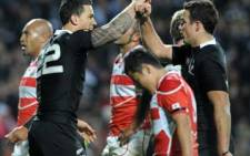 Sonny Bill Williams celebrates with teammate. Picture: AFP