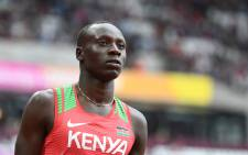 Kenya's Emmanuel Kipkurui Korir competes in the heats of the men's 800m athletics event at the 2017 IAAF World Championships at the London Stadium in London on 5 August 2017. Picture: AFP