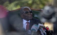 FILE: Robert Mugabe addresses members of the press at his home Blue House in Harare, Zimbabwe, a day before the polls. Picture: Thomas Holder/EWN