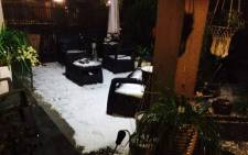FILE: A hailstorm has hit Johannesburg in Spring, Jozi takes to Twitter. Picture: Ahmed Mahomed, @a_mahomed Twitter.