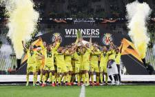 Villarreal are the seventh side to lift UEFA Europa League without a single defeat in that season after beating Manchester United on 26 May 2021. Picture: @EuropaLeague/Twitter.