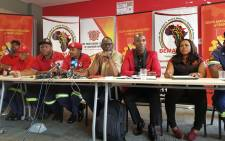 Saftu and Demawusa outlined their plans at a briefing on 27 September 2018 three weeks after the tragedy at the Lisbon Bank building. Picture: @SAFTU_media/Twitter
