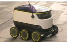 A screengrab of Starship Technologies delivery robot.