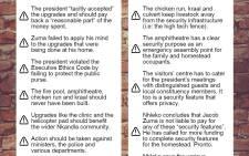 Nkandla report.
