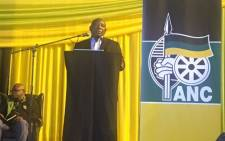ANC deputy president Cyril Ramaphosa delivers a speech at a party event in Johannesburg on 13 November 2017. Picture: Masa Kekana/EWN