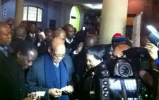 President Jacob Zuma at Pretoria Train Station as he prepares to board a Metrorail train to Johannesburg. Picture: Gia Nicolaides/EWN.