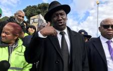 Police Minister Bheki Cele in Mitchells Plain on 12 August 2019. Picture: Kaylynn Palm/EWN