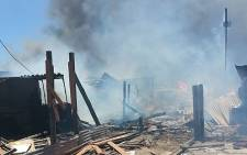 FILE: A man died following a shack fire in Masiphumelele near Fish Hoek on Tuesday. Picture: Supplied