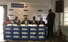 Umalusi Council briefed the media on 28 December 2018 on the results of the 2018 final matric exams. Picture: @SAgovnews/Twitter