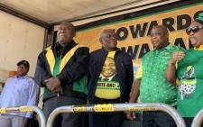 President Cyril Ramaphosa on the campaign trail on 7 April 2019 in Mangaung, Free State. Picture: @MYANC/Twitter