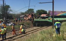 FILE: Clean-up operations begin at the scene of a train crash in Kroonstad, Free State on 6 January, 2018. Picture: Sethembiso Zulu/EWN