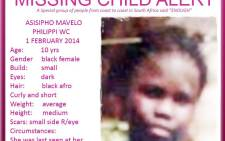 Asisipho Mavelo was last seen on 1 February 2014. Picture: Supplied