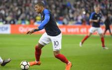 France's Kylian Mbappe in action during their pre-World Cup match against USA. Picture: @equipedefrance/Twitter.