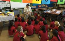 Grade ones sit around in their class at Sea Point Primary School. Picture: Thomas Holder/EWN