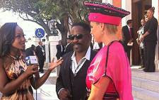 Dali Tambo and his wife arrive ahead of the State of the Nation Address on 14 February 2013. Picture: Rahima Essop/EWN