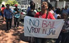 Family and community members gathered at the Wynberg Magistrates Court on 13 January 2019, where Michaela Williams' murder accused appeared in court. Picture: Lauren Isaacs/EWN
