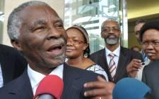 Former President Thabo Mbeki. Picture: Seyllou Diallo/AFP.