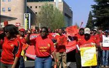 FILE: Numsa members march to the Sandton city centre to hand over a memorandum of demands on 28 August. Picture: Rahima Essop/EWN