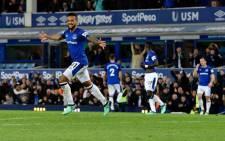 Everton's Theo Walcott celebrates a goal. Picture: @Everton/Twitter