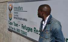 FILE: The entrance to the Refugee Reception Centre in Cape Town. Picture: EWN